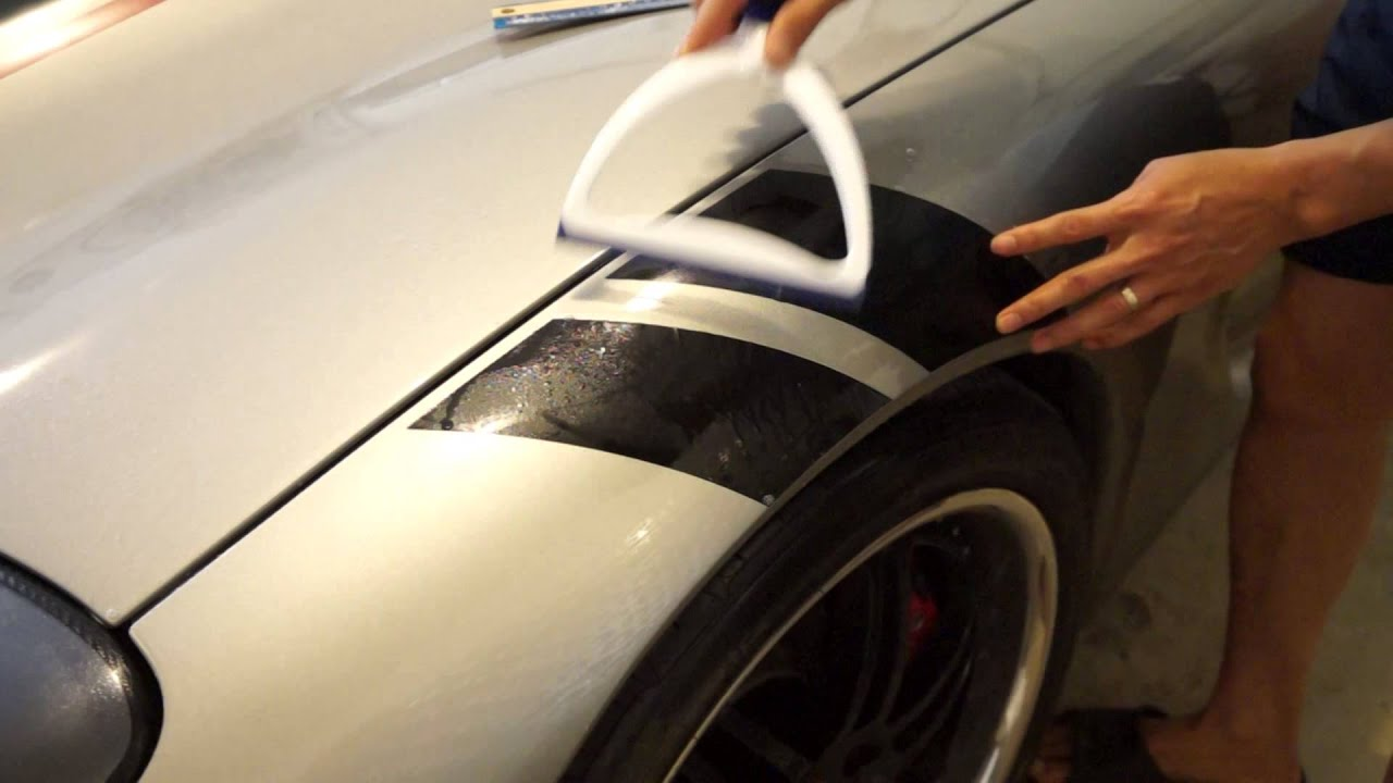 Install Corvette Rf Fender Hash Mark Stripes Youtube