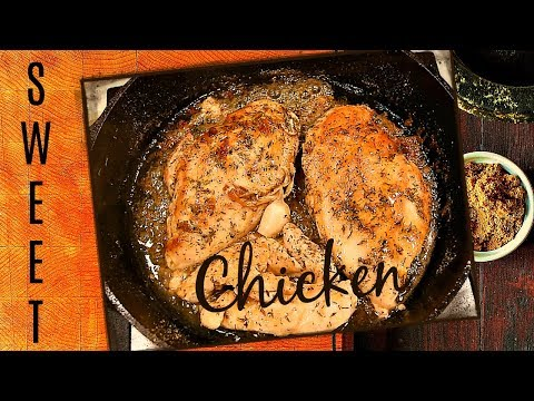 CAST IRON SKILLET TASTY CHICKEN BREAST RECIPE - WITH BROWN SUGAR AND HERBS