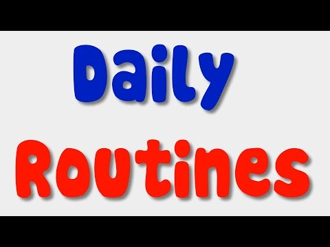 English Song for Kids  Daily Routines