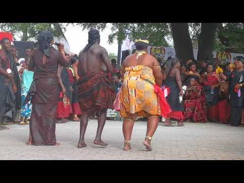 Adowa dancers at the Manhyia palace Kumasi Ghana