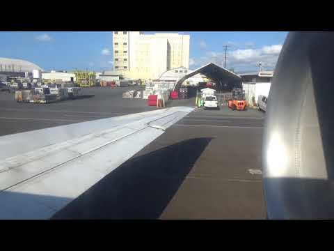 Takeoff From Honolulu Airport Hawaiian Airlines 717 200 bound for Lihue, Kauai