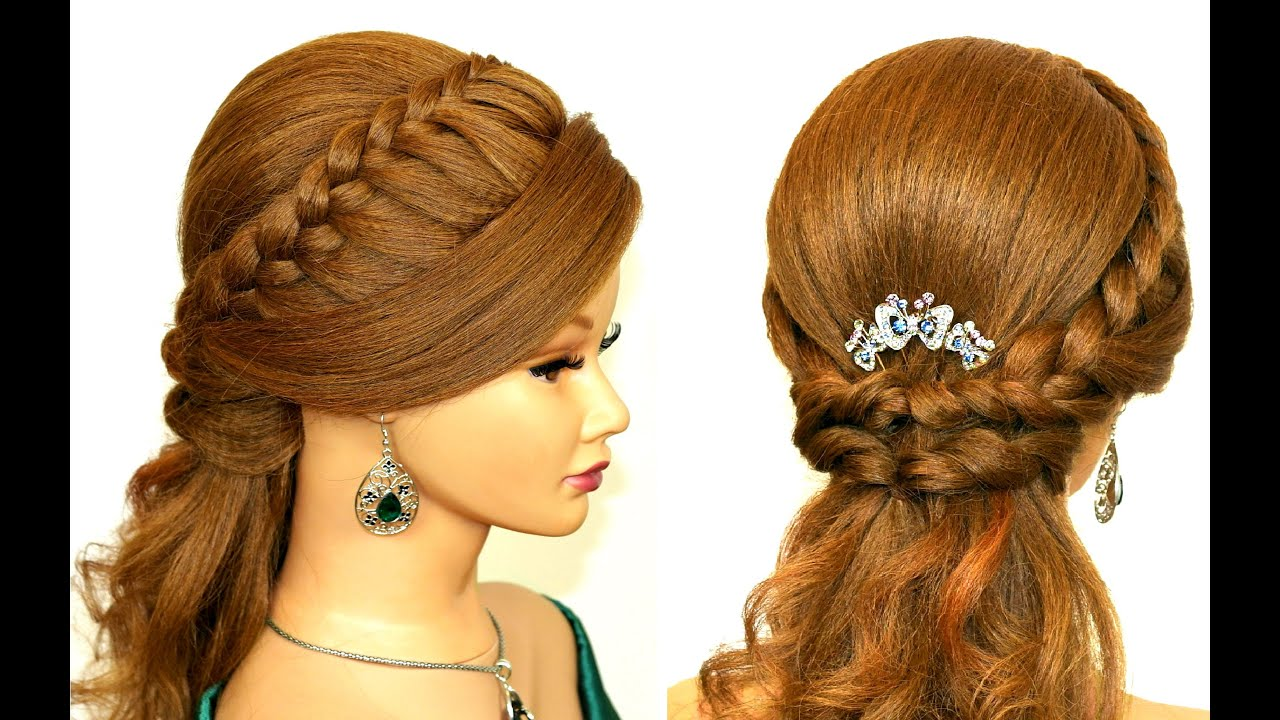 Hair Stayil : Easy prom hairstyle for medium long hair. - YouTube