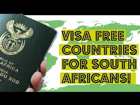 VISA FREE TRAVEL FOR SOUTH AFRICANS