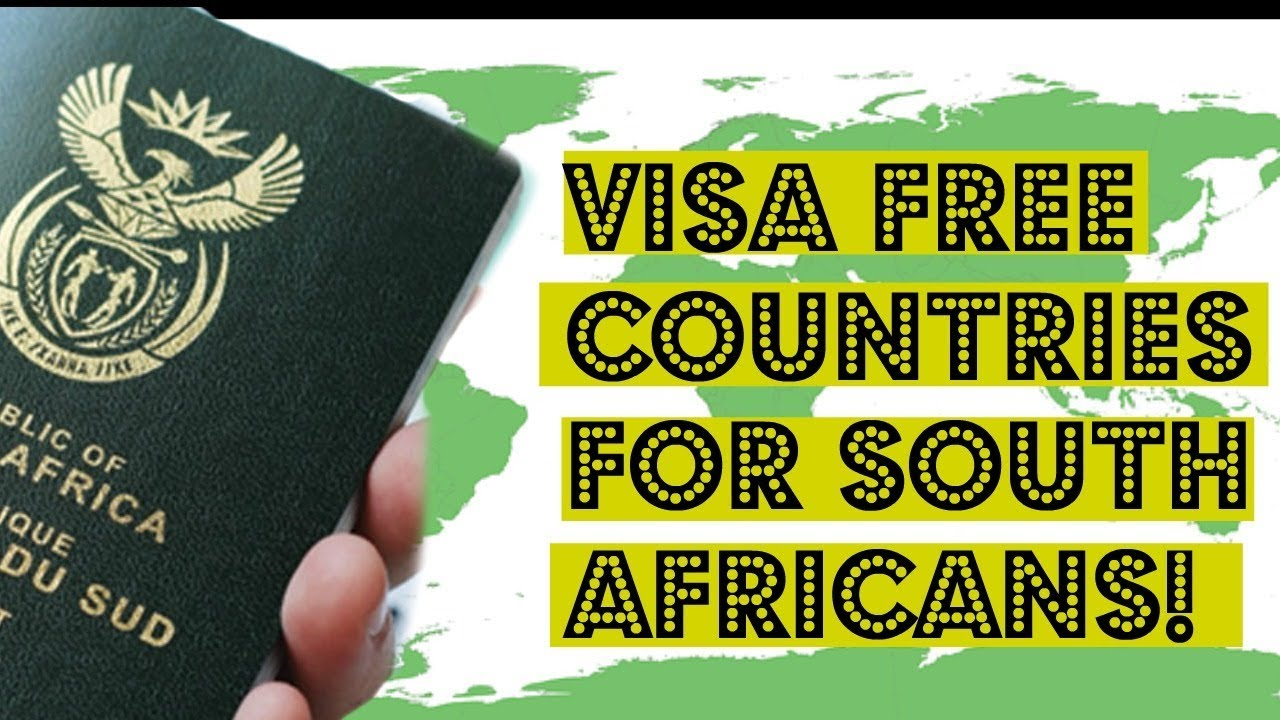 south african passport visa free countries
