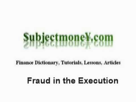 Fraud In The Execution Business Contract Law What Is The