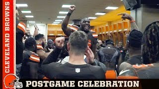 Victory Speech & Postgame Celebration vs. Falcons (Week 10) | Cleveland Browns