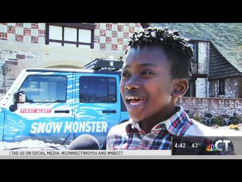 Spring Snow Monster Visit at Renbrook School in West Hartford