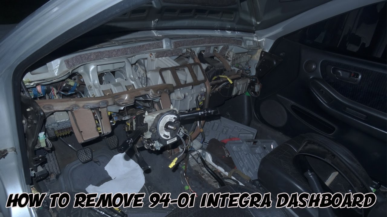 HOW TO REMOVE 94-01 INTEGRA DASHBOARD | PROJECT INTEGRA - YouTube