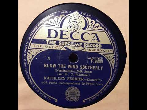 "Kathleen Ferrier, ""Blow the Wind Southerly,"" Decca F 9300, 1949"