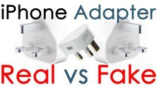 iPhone, iPad, IPod Adapter Mains Charger Real vs Fake