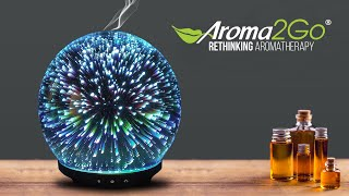 Original 3D Glass Aromatherapy Essential Oil Diffuser by Aroma2Go