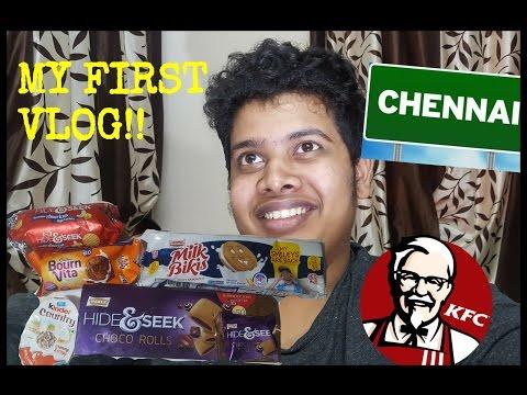 First Vlog - Chennai, KFC, Bournvita, Hide & Seek, Brittania Biscuits.
