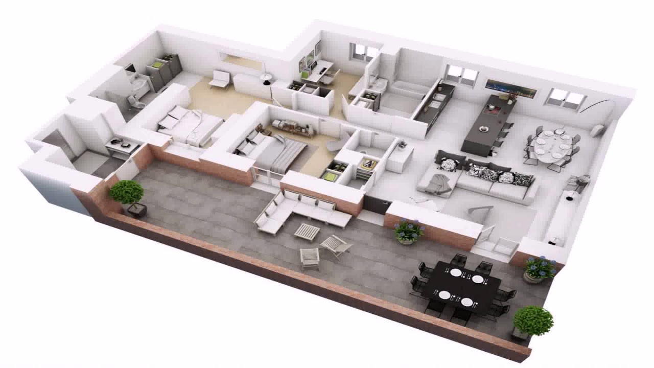 3 Bedroom House Plan On Half Plot. Floor Plan