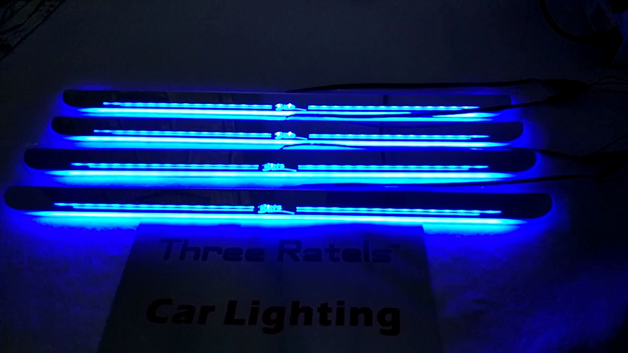 Custom Made Illuminated Door Sill Scuff Plates Youtube