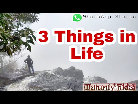3.Things in life / WhatsApp Status Video / Real Fact of life