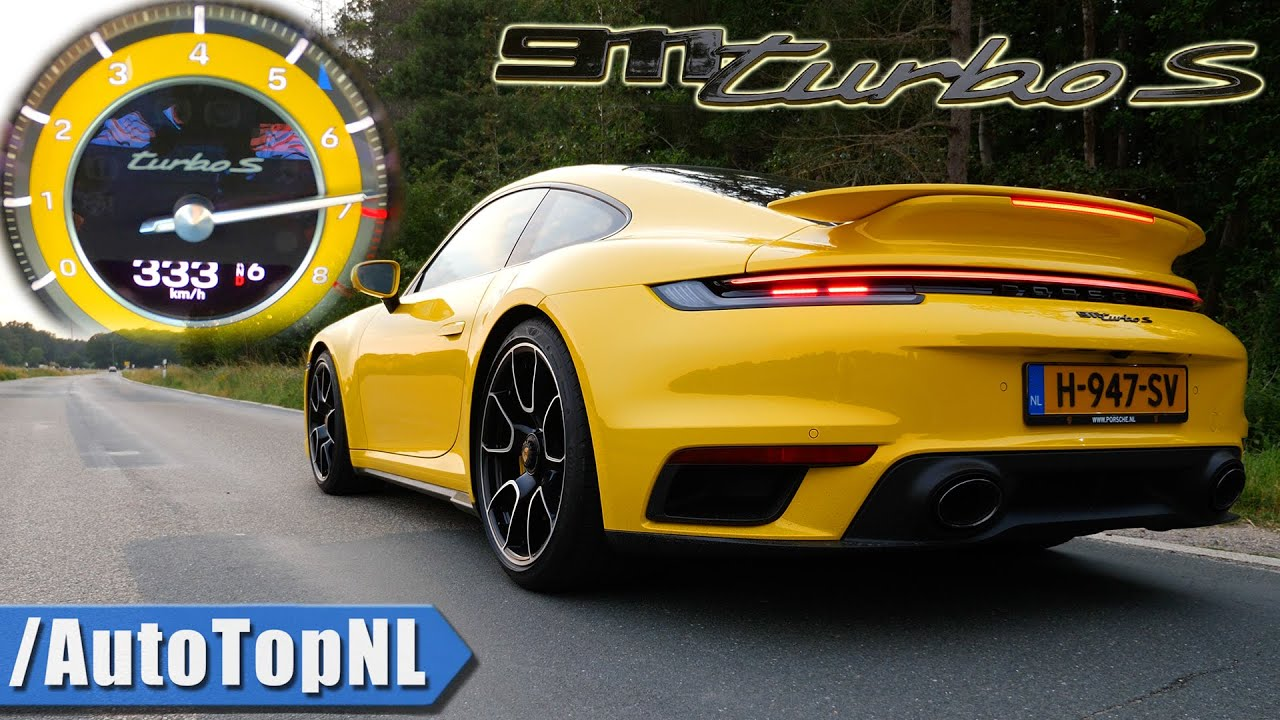 Porsche 911 Turbo S 992 0 333km H Acceleration Top Speed Sound By Autotopnl Youtube