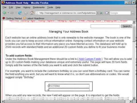 Address book for your website tutorial - YouTube