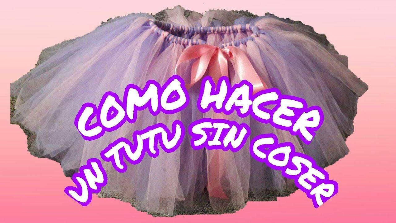 662cbc101 DIY **COMO HACER UN TUTU ESPONJADO SIN COSER**TUTU DE XIME 💏👧👦👩👶