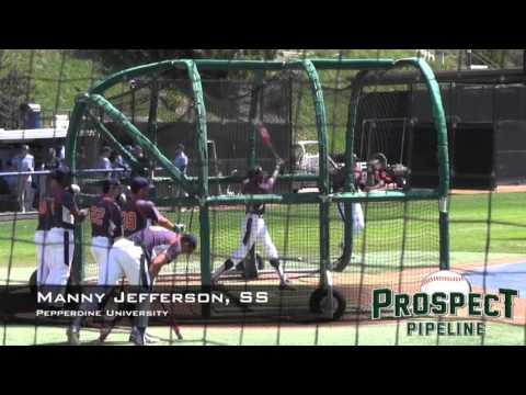 Manny Jefferson Prospect Video, SS, Pepperdine University