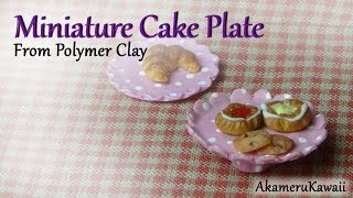 Miniature Cake Plate - From Polymer Clay - Dollhouse Miniature