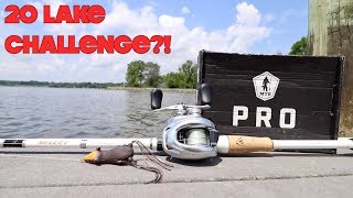 CRAZY ROULETTE FISHING CHALLENGE!!! (20 Lakes, Ponds, Rivers, & Reservoirs)