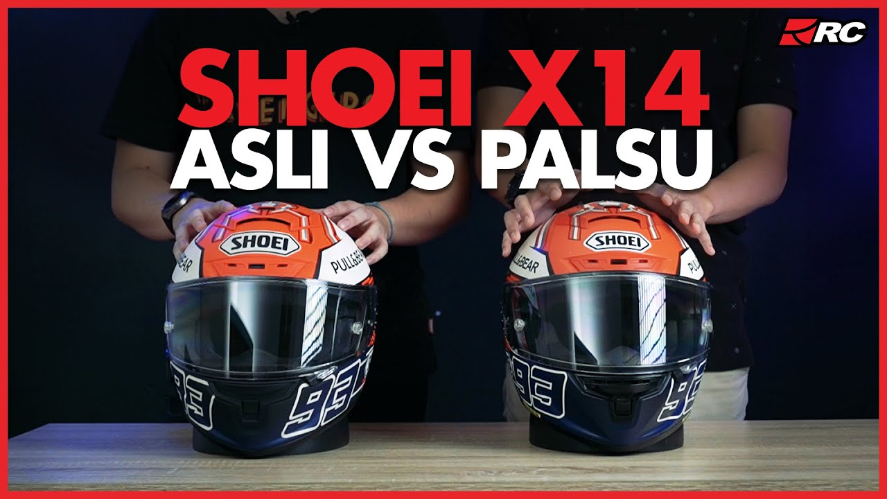 Kupas Tuntas Asli VS Palsu! SHOEI X14 MARQUEZ 5 TC 1  - RC Review -