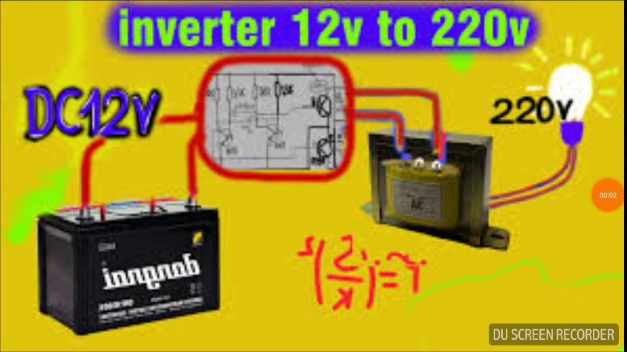 3000w Inverter Wiring Diagram Inverter 12v To 220v 3000w By Transistor Part 4 Hd Youtube