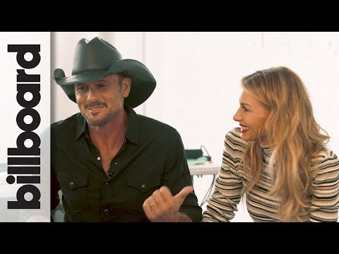 Faith Hill & Tim McGraw on First Meeting Doing the Electric Slide on Stage | Billboard