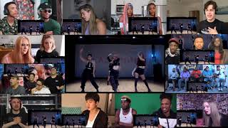 BLACKPINK - 'Kill This Love' DANCE PRACTICE VIDEO (MOVING VER.) Reaction Mashup