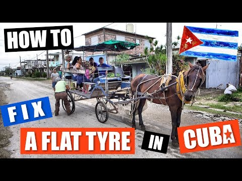 How to Fix a Flat Tyre in Cuba