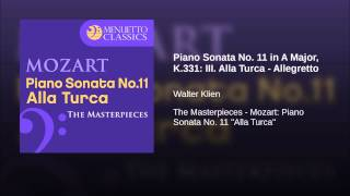 Piano Sonata No. 11 in A Major, K.331: III. Alla Turca - Allegretto