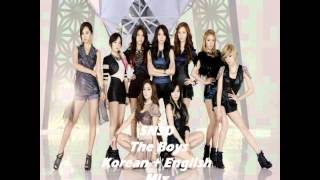 SNSD - The Boys (korean + english mix ver.)