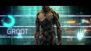 Фильм 2014 - Стражи Галактики - Вин Дизель в роли Грута и реактивный Енот! (HD) - РОССИЯ