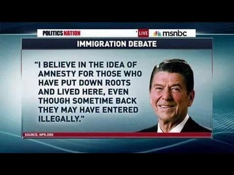 Ronald Reagan on Amnesty and Illegal Immigration