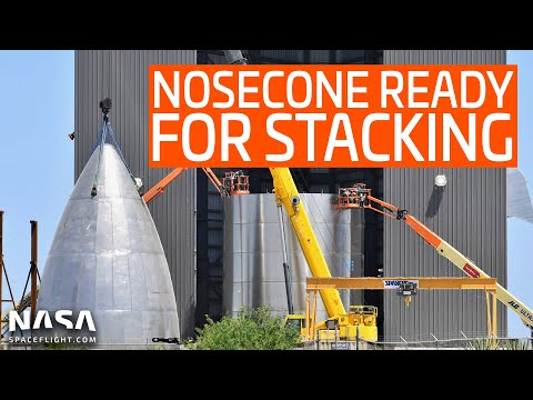 SpaceX Boca Chica - Nosecone Ready To Stack - Work On New Lot