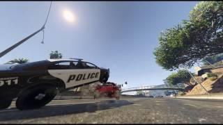GTA 5 V EPIC SHOT SLOW-MOTION ACTION CRASH POLICE CHASE STICKY BOMB HIT 60 fps - BEST COMPILATION