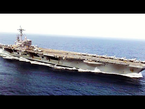 HISTORIC EVENT as U.S. and French FIGHTER JETS perform FLYOVER of SUPERCARRIER USS George H.W. Bush!