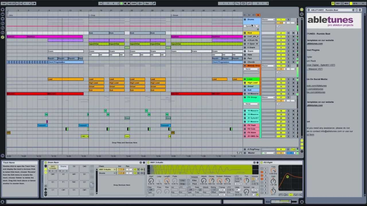 dubstep ableton live template 39 rumble beat 39 by abletunes youtube. Black Bedroom Furniture Sets. Home Design Ideas