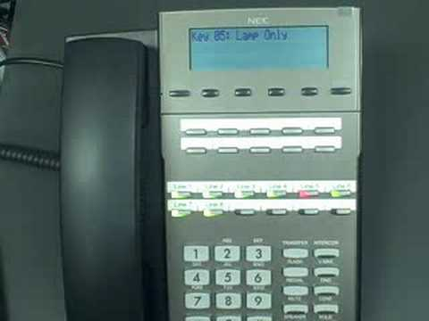 NEC DSX 22B display telephone line ringing - YouTube