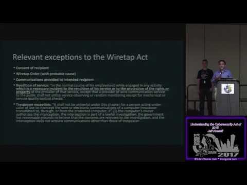 BSidesCharm 2017 T110 Understanding the Cybersecurity Act of 2015 Jeff Kosseff