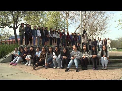 Spelling Bee Cheer: Classmates Of Nitya Sunkad Of Harvest Park Middle School In Pleasanton