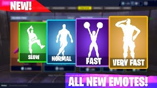 NEW Fortnite Emotes SLOW, NORMAL, FAST, VERY FAST (Crackdown, Cheer Up, Take The Elf etc)