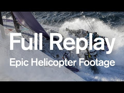 Full Replay: Epic helicopter footage of the Leg 2 start!