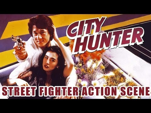 Jackie Chan: City Hunter (3/4) Street Fighter Action Scene (1993) HD