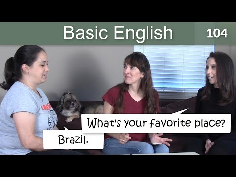 Lesson 104 ????? Basic English with Jennifer - Talking about Favorites & the Past