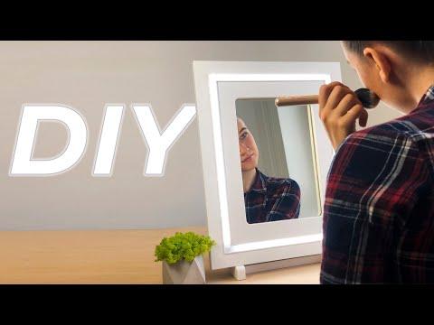 DIY Зеркало с подсветкой   Розыгрыш