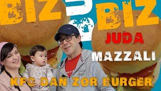 KFC CHICKEN BURGERDAN ZO'R BURGER #bizbubiz #burger #kfc