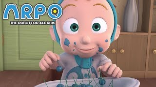 ARPO The Robot For All Kids - Messy Blueberry Baby | Compilation | Cartoon for Kids Video