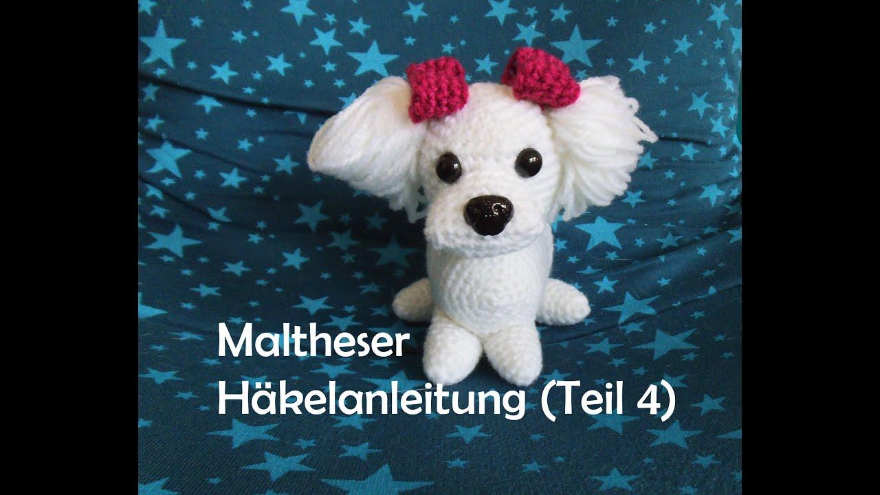 Maltheser Hund - Teil 4 - Amigurumi Häkelanleitung - YouTube