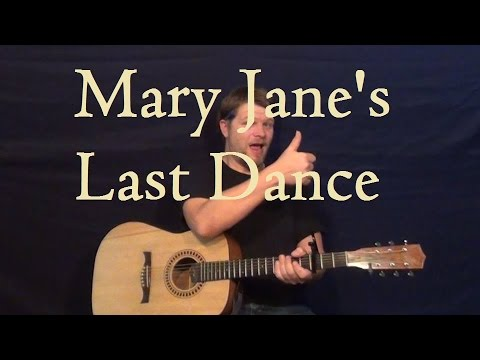 Mary Jane\'s Last Dance (TOM PETTY) Guitar Lesson - Easy Strum How to ...
